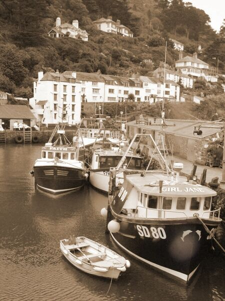 The fishing village of Polperro on the south coast of Cornwall