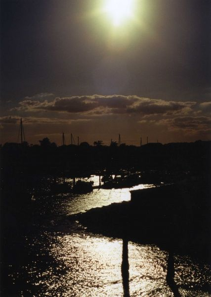 Taken at Mudeford Quay, Dorset. As the sun was setting the shadows darkend and gave a very magical feel to the harbour