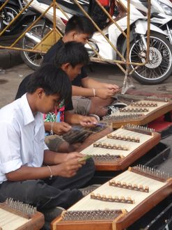 Kids playing Khim