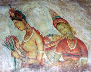 Sigiriya Rock Fresco Ladies